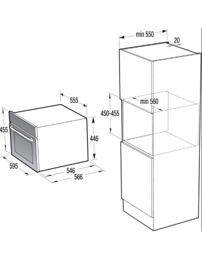 Духовой шкаф Gorenje BCS 547 ORA-W