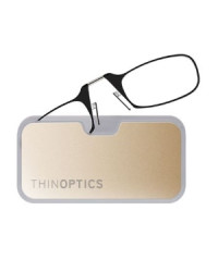 Очки для чтения Thinoptics 1.50, черные + Чехол золотой метал (1.5BBMG)