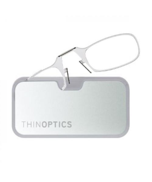Очки для чтения Thinoptics 1.50, черные + Чехол серебряный метал (1.5BBMS)