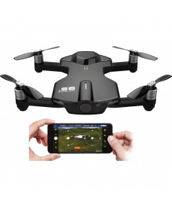 Квадрокоптеры Wingsland S6 GPS 4K Pocket Drone-2 Batteries pack (Black)