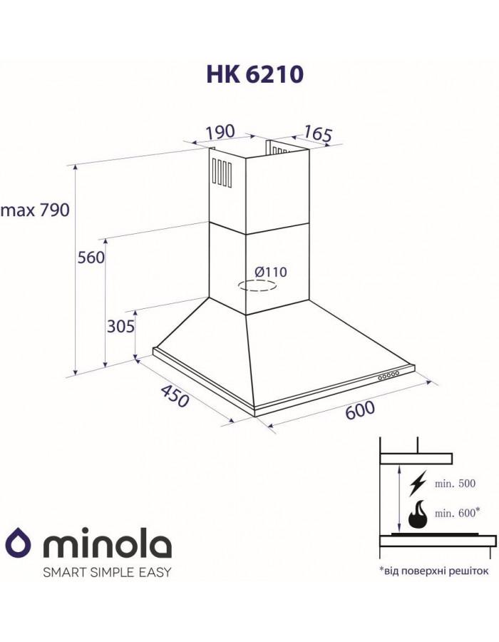 Вытяжка Minola HK 6210 BR 650