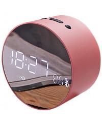 Портативная акустика JoyRoom JM-R8 Alarm Clock Pink
