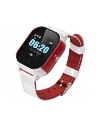 Смарт-часы GoGPS К23 белые с красным