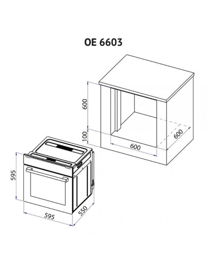 Духовой шкаф Minola OE 6603 WH