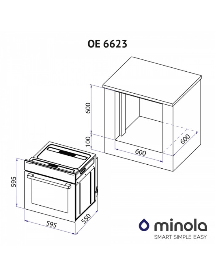 Духовой шкаф Minola OE 6623 WH