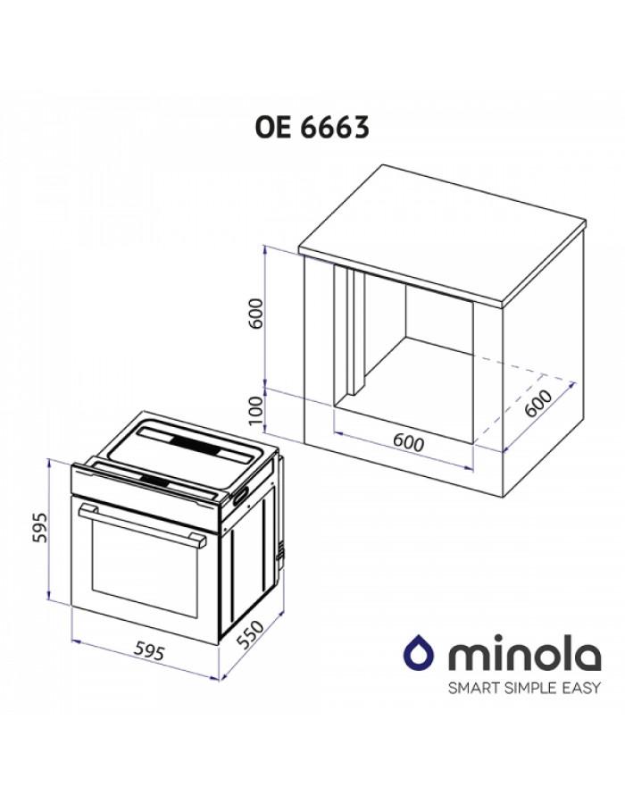 Духовой шкаф Minola OE 6663 WH