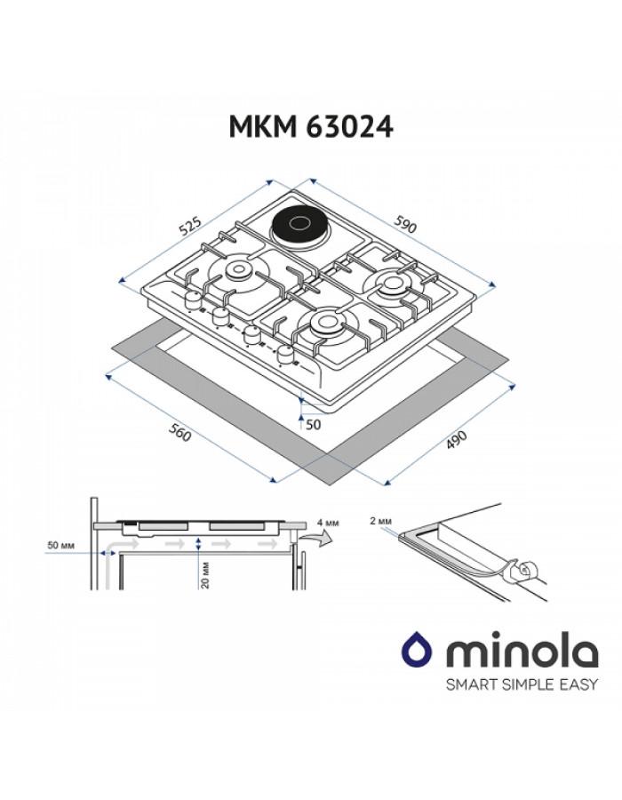 Варочная поверхность Minola MKM 63024 BL