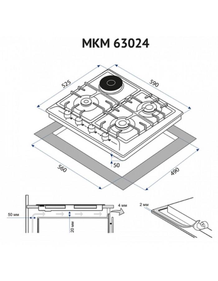 Варочная поверхность Minola MKM 63024 WH