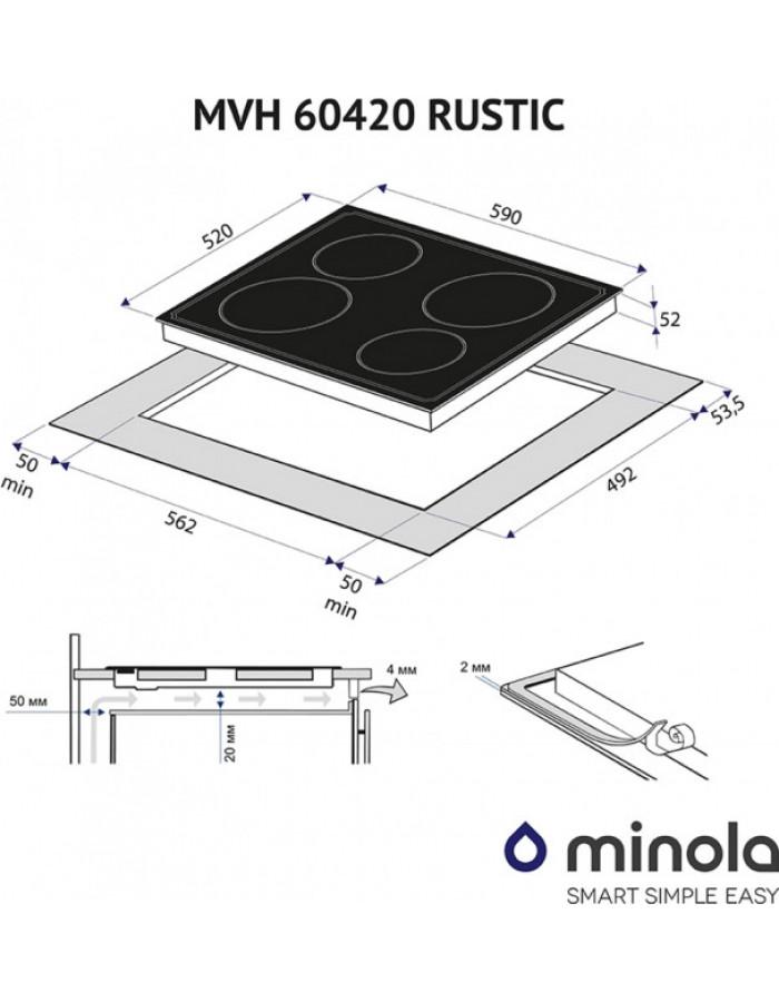 Варочная поверхность Minola MVH 60420 GBL RUSTIC