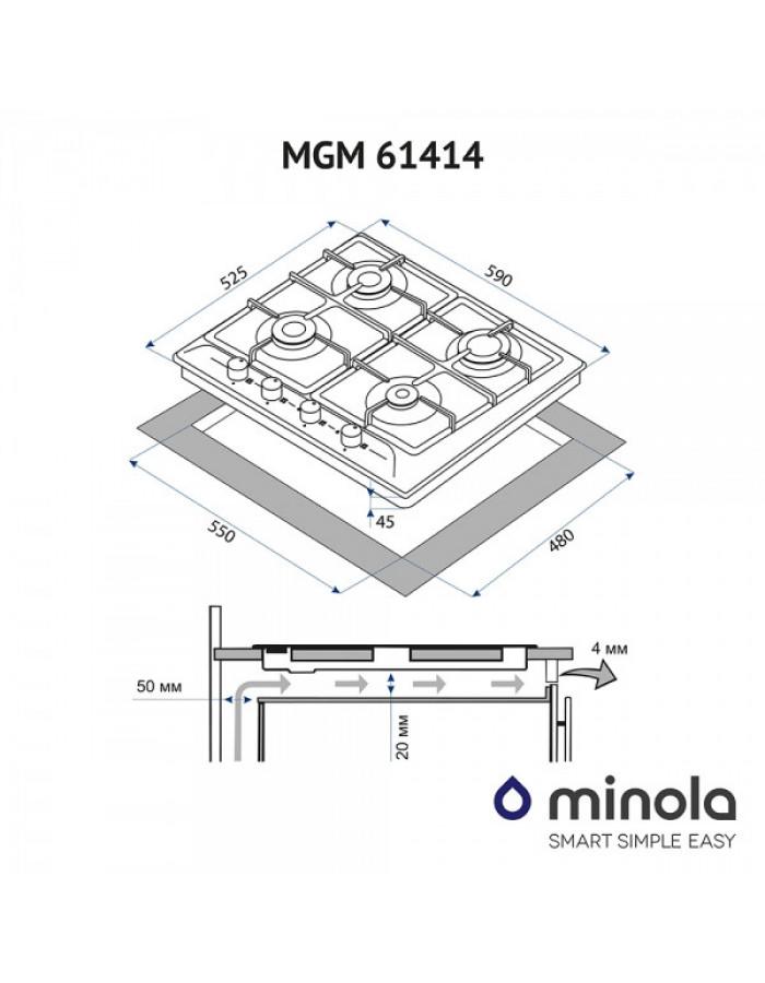 Варочная поверхность Minola MGM 61414 BL