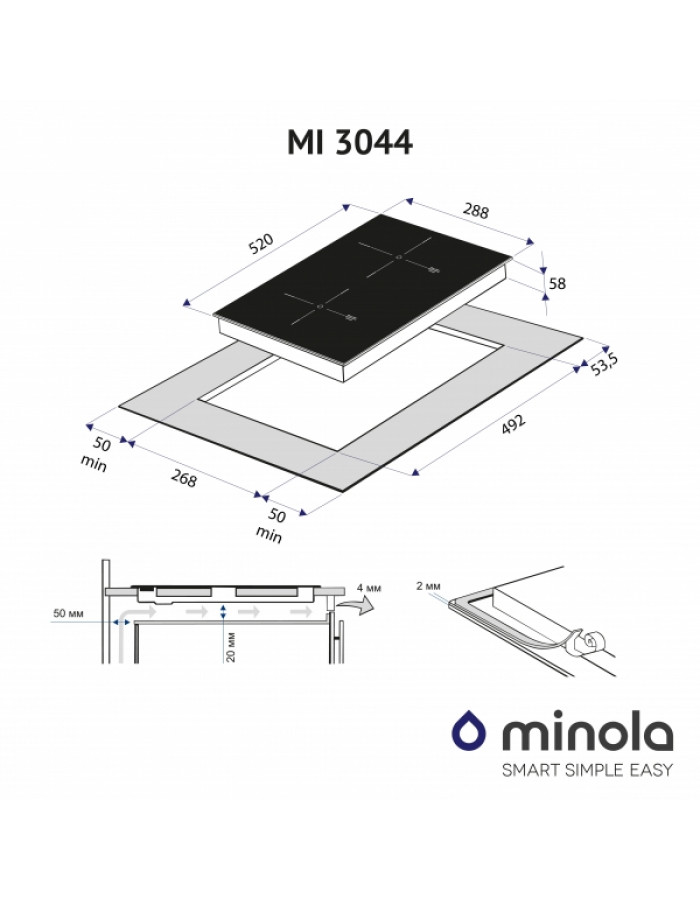 Варочная поверхность Minola MI 3044 GSW