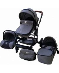 Детская коляска GT Baby 2801 Black/Dark gray
