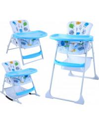Стульчик для кормления GT Baby HC-01 Blue/Fruit Patterns