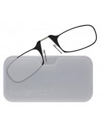 Очки для чтения Thinoptics 2.50, черные / Чехол универ, прозр (2.50BWUP)