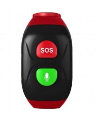 Смарт-часы GoGPS М03 кнопка SOS черные с красным