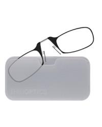 Очки для чтения Thinoptics 1.00, черные / Чехол универ, прозрачный (1.0BWUP)