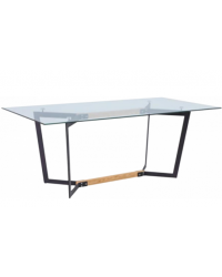 Кухонный стол GT K-4007 Clear glass/Black