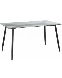 Кухонный стол GT K-4006 Clear glass/Black