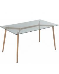 Кухонный стол GT K-4006 Clear glass/Wooden