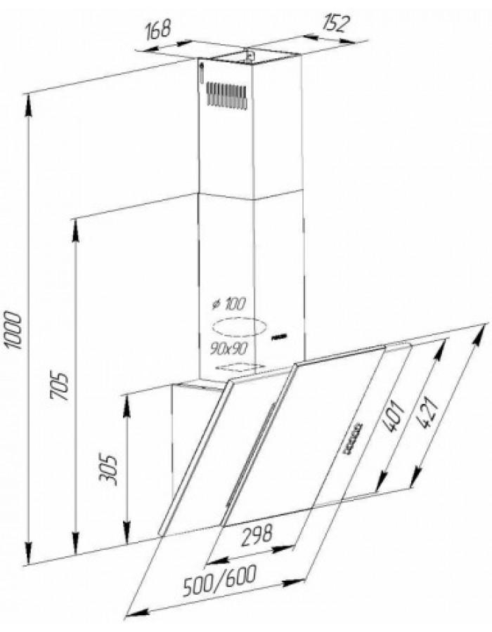 Вытяжка Pyramida KZ 60 BL/U